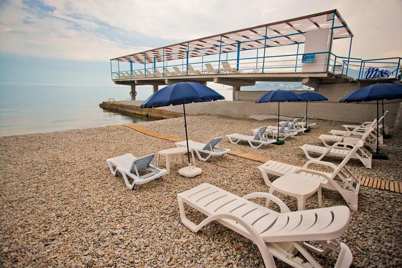 Пансионат Дом Творчества АКТЕР Ялта пляж