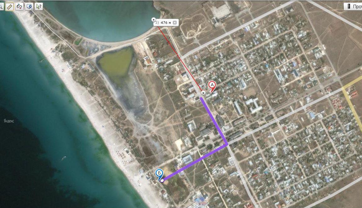 Отель Южный Бриз Штормовое карта поселка с расположением отеля и расстояниями