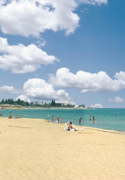 Санаторий Коралл Евпатория пляж