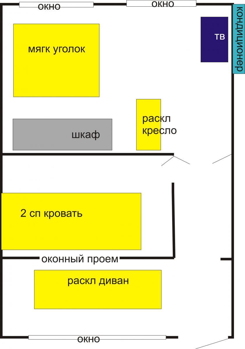 Апартаменты Дом 3 комн. в Евпатории ул Средняя 63 кв 2 Евпатория план жилой части