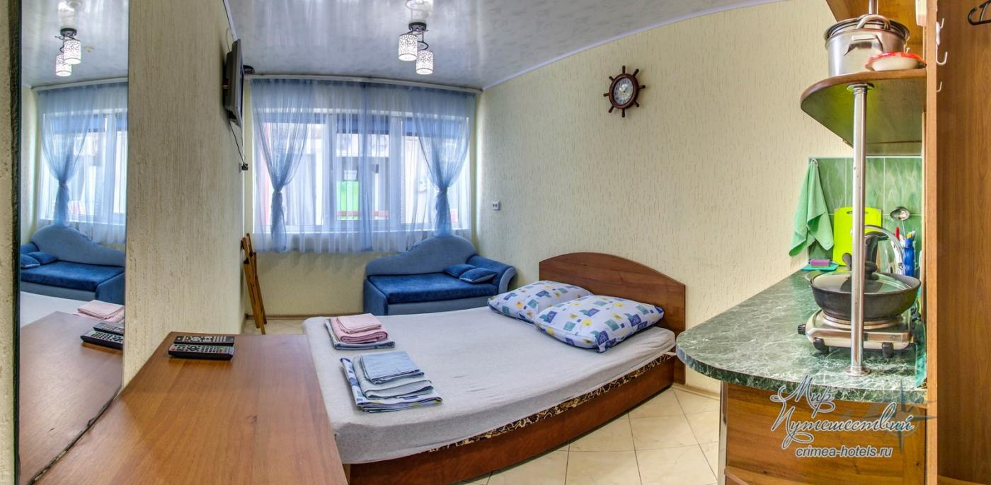 Апарт-отель Эллинги У моря (Дельфин 93) Евпатория 1 комнатный  2-3 местный №15