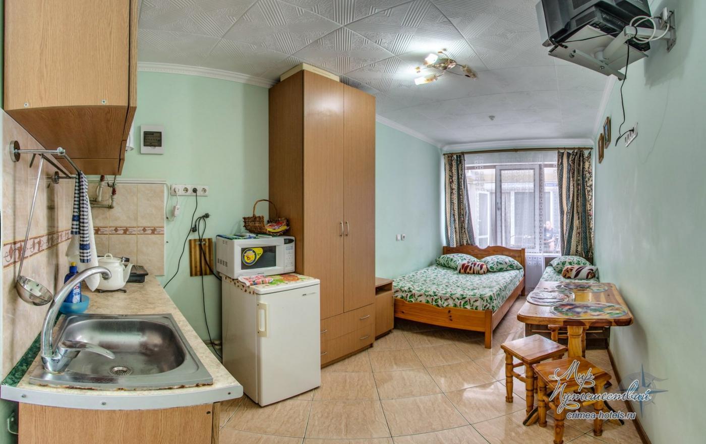 Апарт-отель Эллинги У моря (Дельфин 93) Евпатория 1 комнатный  2-3 местный №27