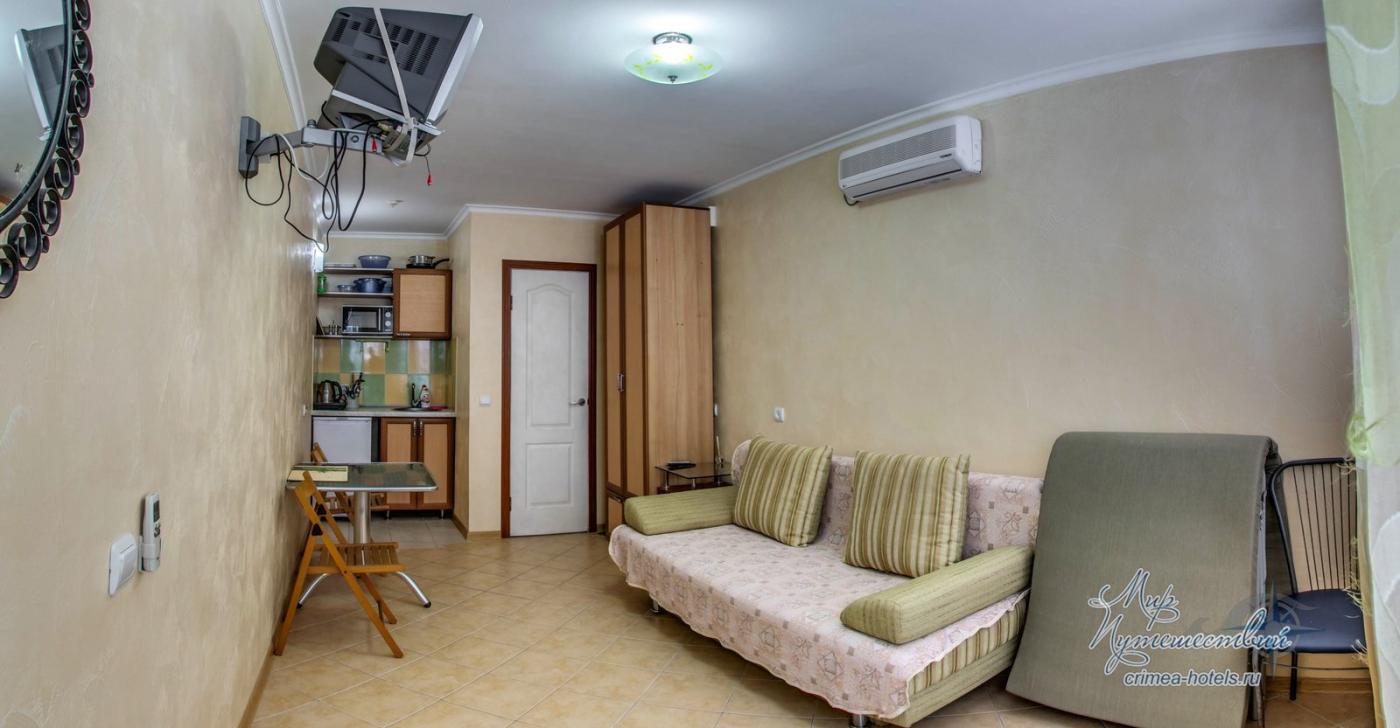 Апарт-отель Эллинги У моря (Дельфин 93) Евпатория 1 комнатный  2-3 местный №28