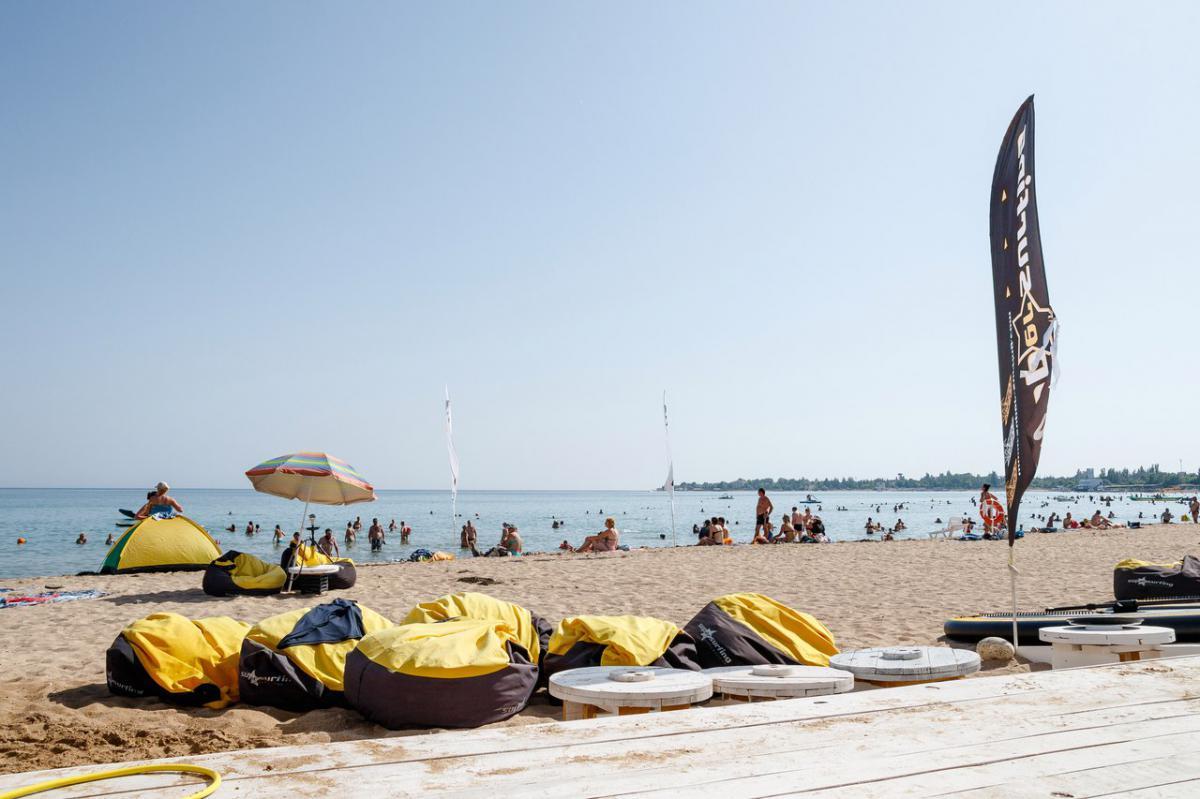 Гостевой Дом Флагман  Заозерное Пляж «Супер Аква»