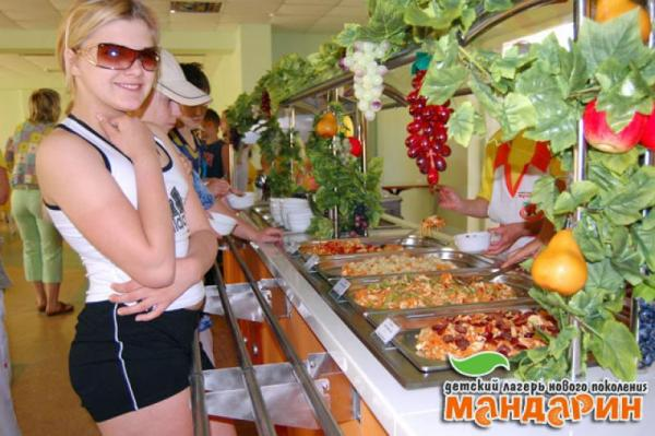 Детский Оздоровительный Лагерь Мандарин Песчаное Ресторан лагеря Мандарин