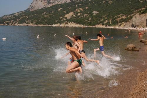 Детский Оздоровительный Лагерь Ласпи Ласпинская бухта пляж