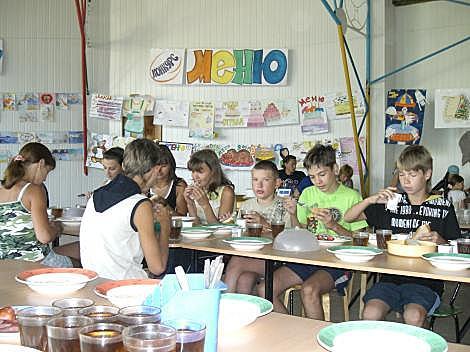 Детский Оздоровительный Лагерь Ласпи Ласпинская бухта столовая