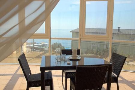 Вид с балкона Люкс 2-местный 1-комнатный