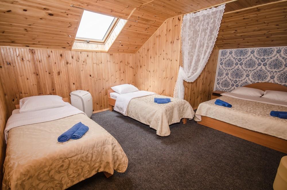 Двухкомнатный люкс в мансарде до 7 человек