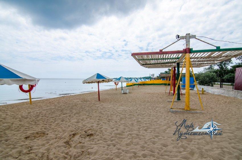 Гостевой Дом Фортуна (территория Строителя) Заозерное Территория и пляж