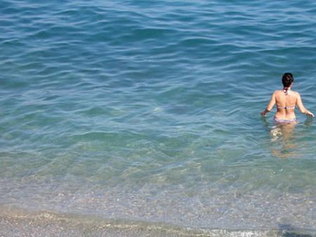 Пляж пансионата Морской бриз