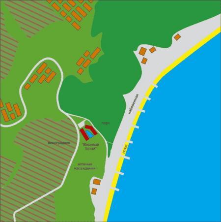 карта-схема расположения отеля